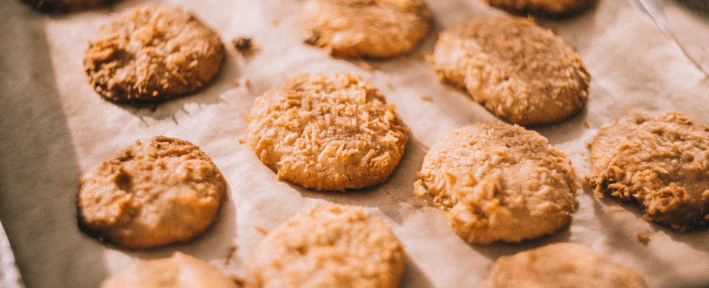 a tray a fresh cookies baked using cbd recipes