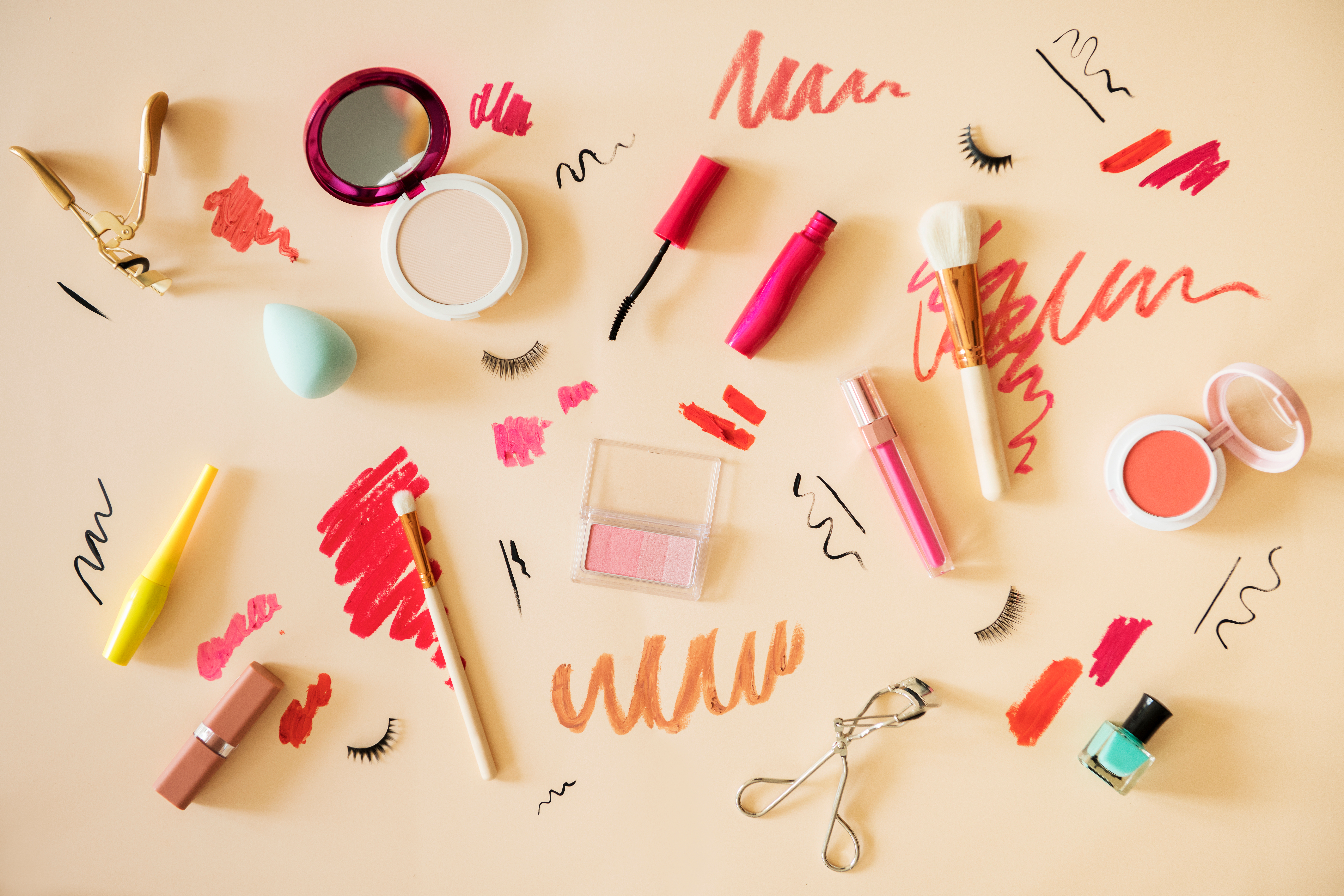 Stylish cosmetics, some of which may contain harmful ingredients