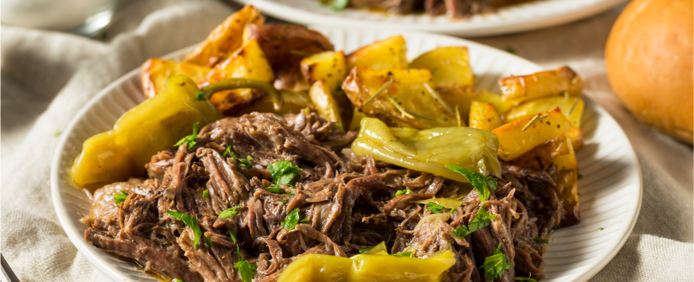 Slow cooked beef with peppers, a delicious recipe for your slow cooker