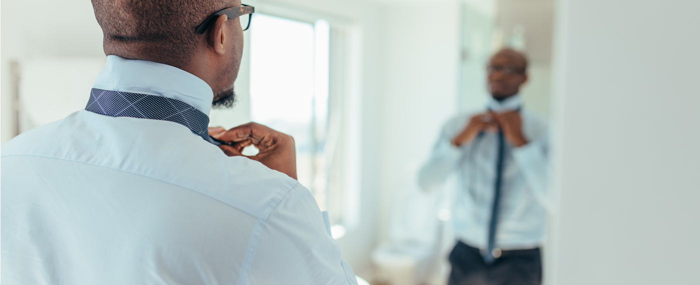 A man prepares for his day faster using morning tips