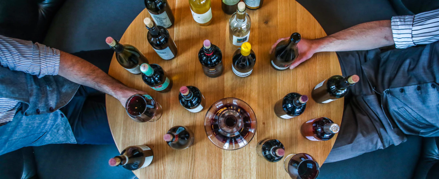 Various wine bottles on a table from Aldi's free wine course