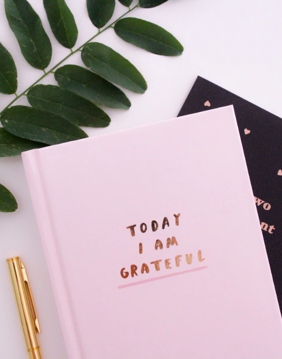 A journal used to document grateful thoughts for mindfulness