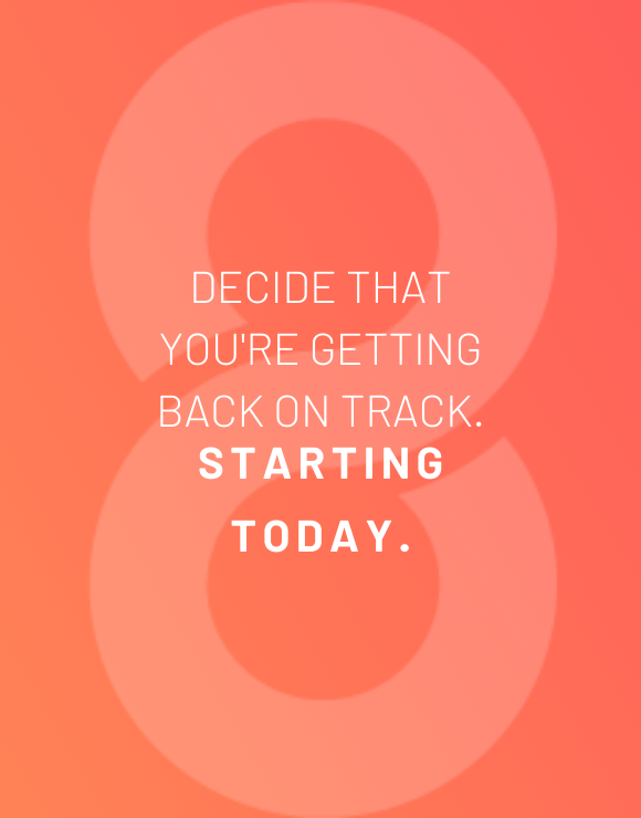 Motivational quote for staying on track with fitness goals