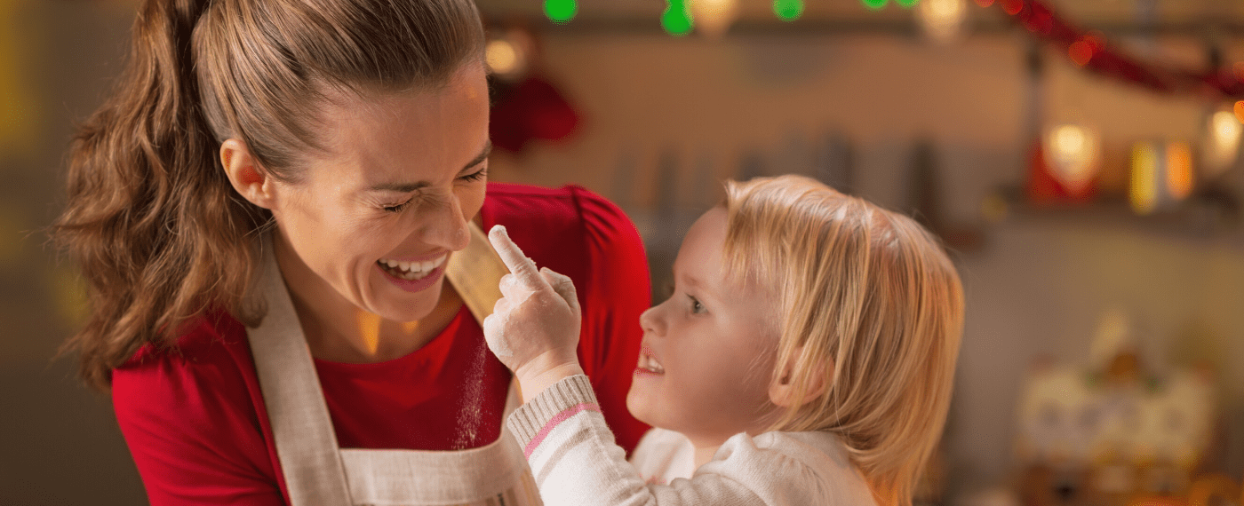 mother and daughter baking gluten free treats for the holidays