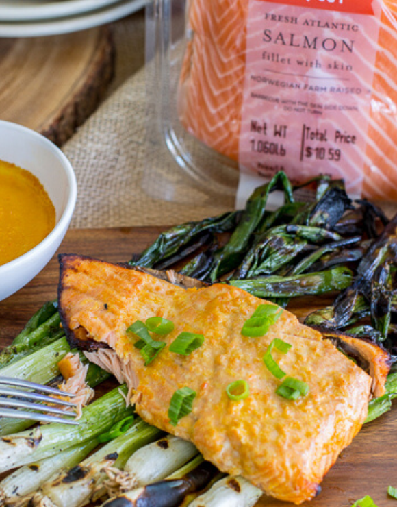 Grilled Carrot Miso Salmon from Trader Joe's