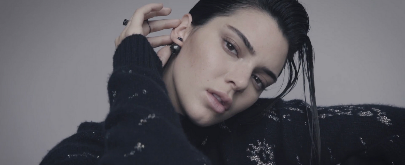 Kendall Jenner modeling for meditation