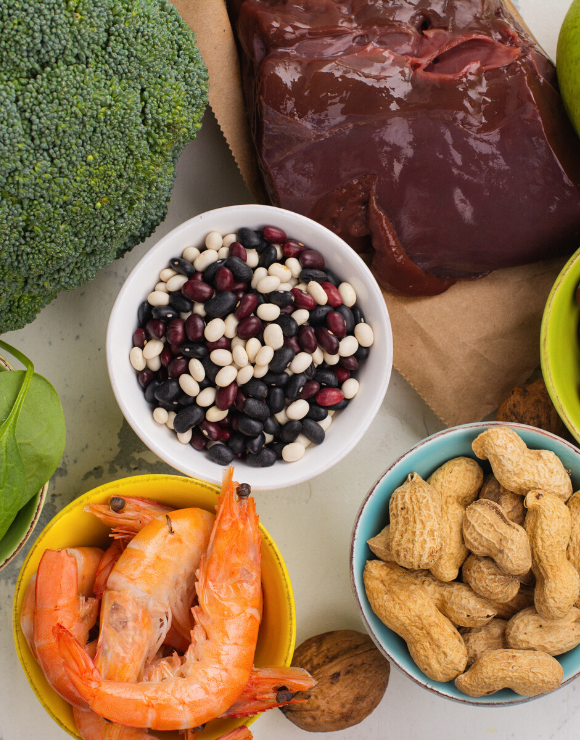 plate of food rich in vitamin b