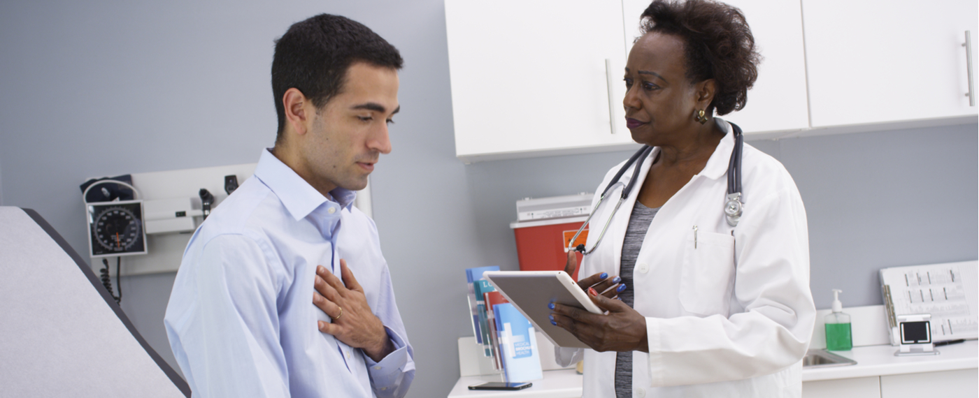 Doctor asking patient medical questions