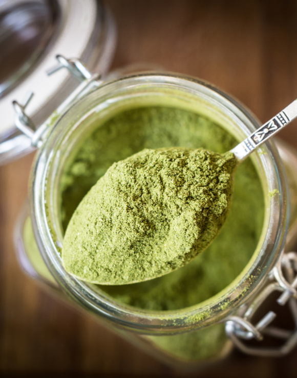 a spoonful of Moringa Powder