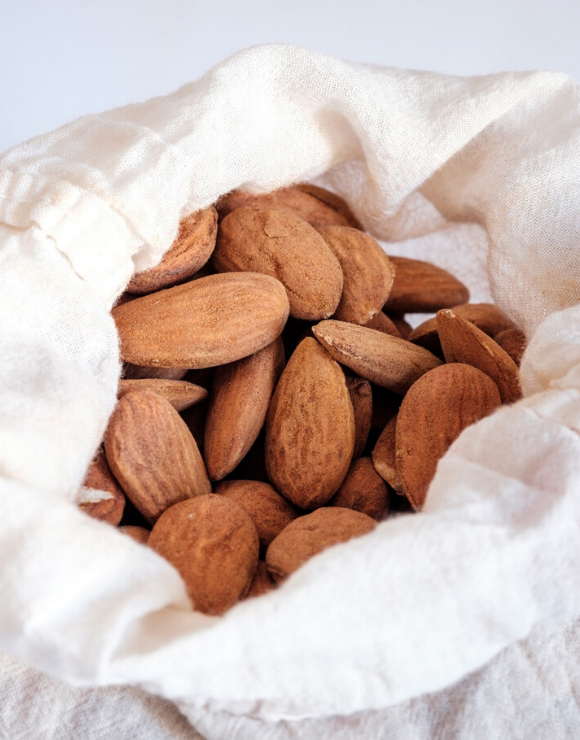 A sack of almonds