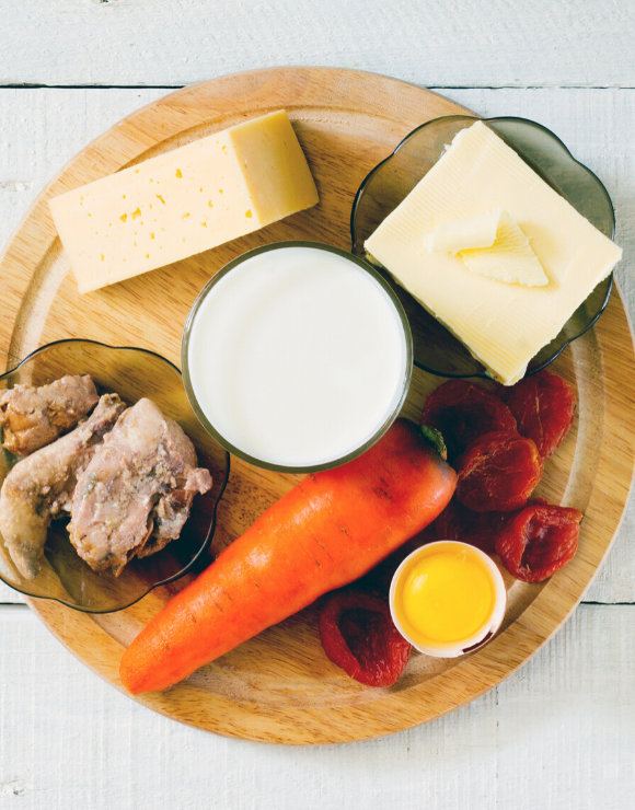 plate of foods containing vitamin a